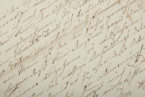 Hand writing, old letter